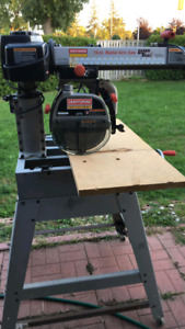 Craftsman 10in Radial Arm Saw with laser.