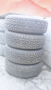 195/70R14 SET 4 BRAND NEW WINTER TIRES ON 5 BOLT STEEL RIMS