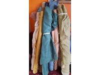Job lot of curtain/ throw material rolls