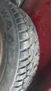 "Lightly Used 13"" Snows on Toyota Steel Rims"