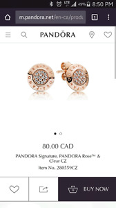 Pandora rose earrings logo