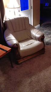 European leather couch and chair