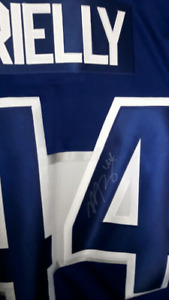 Morgan Rielly signed Leafs jersey