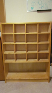 Bookshelf with optional C.D. inserts for sale.
