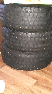 4 studed winter tires