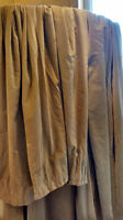 Rideau Curtains velour cotton beige Ikea Sanela 140cm x 250cm