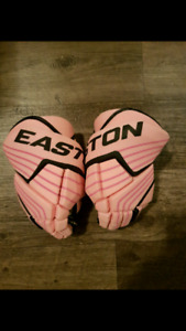 "Pink Easton 12"" Hockey Gloves Excellent new condition $60"