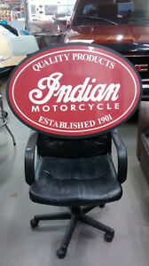 LARGE INDIAN AND HARLEY SIGNS
