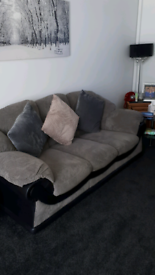 2x3 seaters grey &black. 9 months old. Moving house forces sale .