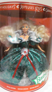 1995 Happy Holidays Special Edition Barbie Doll Mattel # 14123