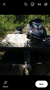 2005 M700 mountain sleds with trailer