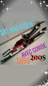 Ski nautique avec corde