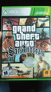 Grand Theft Auto San Andreas for the Xbox 360