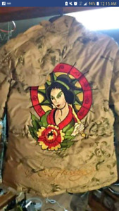 """womens ed hardy snowboard jacket with """"recco"""" avalanche tracking"""