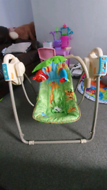 Baby Tropical Rain Forest Musical Swing - Battery Operated