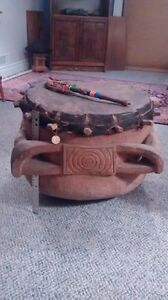 Large African (North Transvaal) Wooden Bass Drum