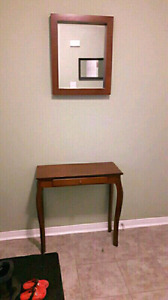 CONSOLE TABLE WITH MIRROR  -both