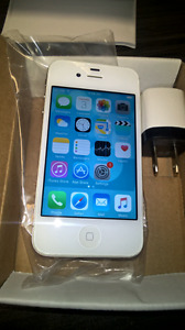 Unlocked 100% Original iphone 4s boite,chargeur,comme neuf