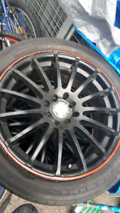 17 inch black/noir mags 4 bolt/trous trade/echanger