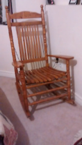Wooden rocking chair for $30