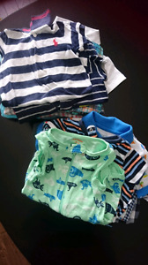 Baby boy summer rompers size 6m