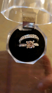 2 in 1 925 silver ring set wedding style 6