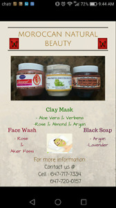 clay mask Moroccan