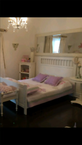 Ikea Full/dbl solide bed frame with slats