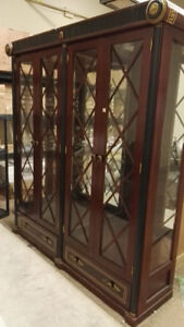 Solid Wood with Build-in LED Display Cabinet