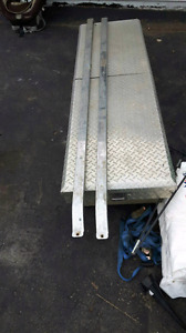 Two truck bed rails