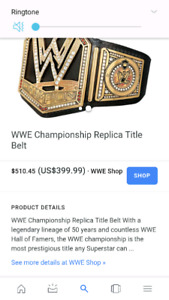 WWE Championship replica belt