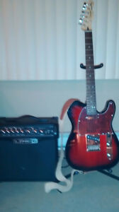 Squier Electric Guitar & Amp for Sale