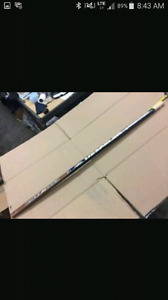 Various used hockey sticks - LH