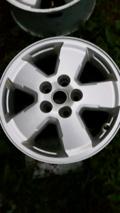"4 16"" aluminum 5 bolt rims off a ford escape in mint condition"