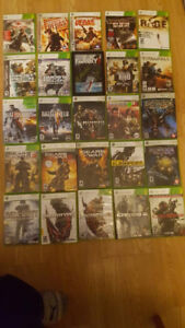 xbox 360 games 120 games $5 each or $275 for all of them