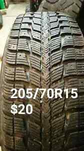 Single tires. Size  and price on pictures.