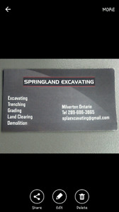 Excavating and Mini Excavating  Book Before July 31 and save 10%