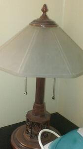2 antique heavy lamps for sale