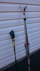 Junior Cross-country Skis, boots,  poles