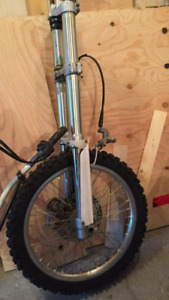 YZF Front Forks, Brakes, Front Wheel