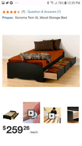 Twin bed extra long