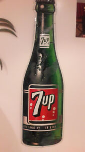 SOLD 1960 7up Bottle Sign *Original *Great Condition