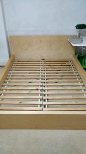 IKEA MALM Queen Bedframe - Light Brown - Condition 9.5/10 - $150