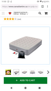 Coleman Double High- air mattress with AC Pump TWIN