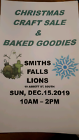 Smiths Falls lions craft and bake sale