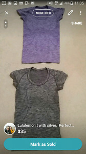Lululemon t with silver.  Worn once