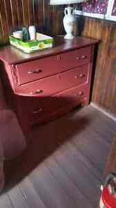 Antique dresser and table