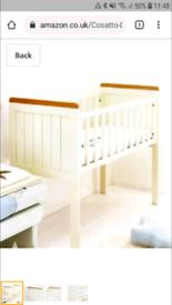Cosatto Pacific crib and Mothercare mattress