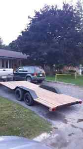 16.5 foot by 7 foot double axle trailer