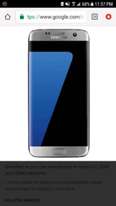 SAMSUNG GALAXY S7 - Damaged but functional screen